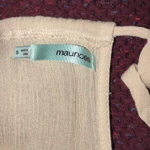 Maurices Tops - 🌼Cream S tank top!🌼